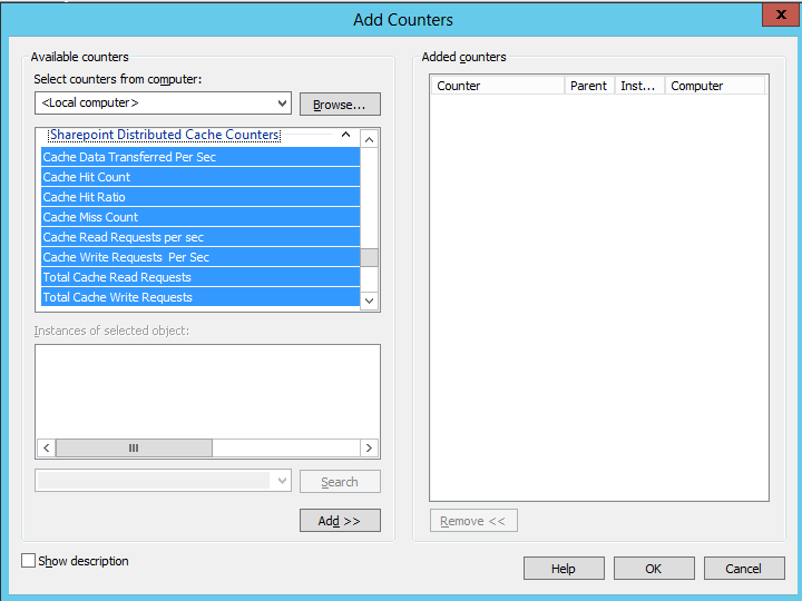 SharePoint2013DistCachecounters1